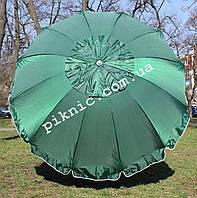 Зонт торговый 2,5м с клапаном 12 спиц. Усиленный зонт для торговли на улице, садовый, для рыбалки
