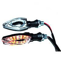 LED указатели поворота, поворотники для мотоцикла, пара (03022)