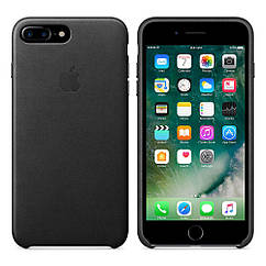 Чехол Leather Case iPhone 7 Plus/8 Plus Black (Natural Leather)
