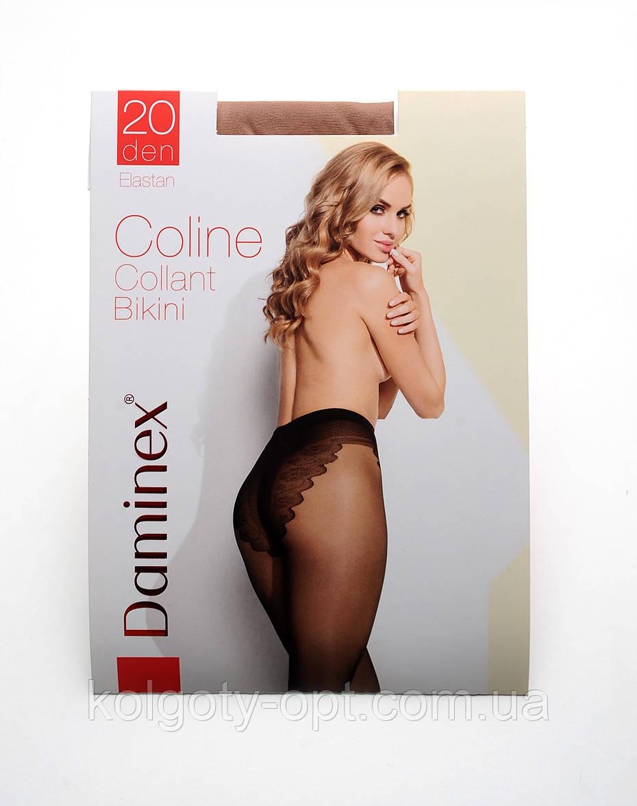 Колготки с ажурными трусиками Daminex Сoline 20 den бикини