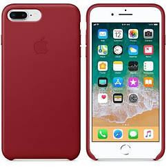 Чехол Leather Case iPhone 7 Plus/8 Plus Red (Natural Leather)