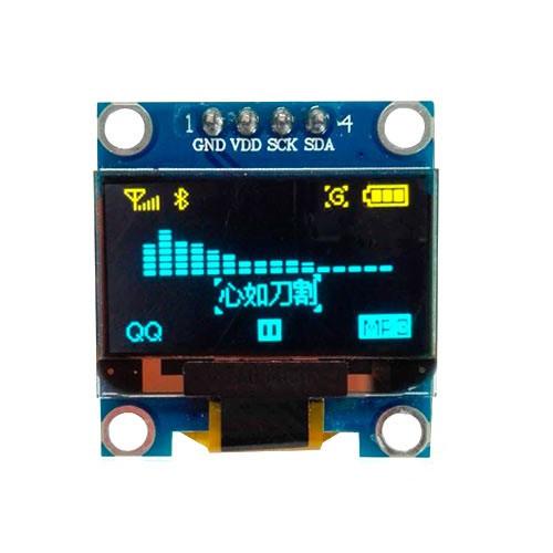 "OLED дисплей графический SSD1306 I2C 4p 0.96"" 128x64 Arduino, сине-желтый"