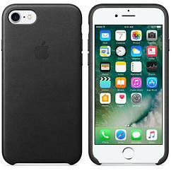 Чехол Leather Case  iPhone 7/8  Black (Natural Leather)