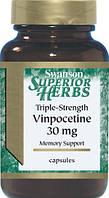 Улудшение мозгового кровообращения - Винпоцетин (Vinpocetine), 30 мг 60 капсул, фото 1