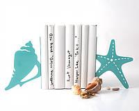 Держатель для книг Морская ракушка и звезда