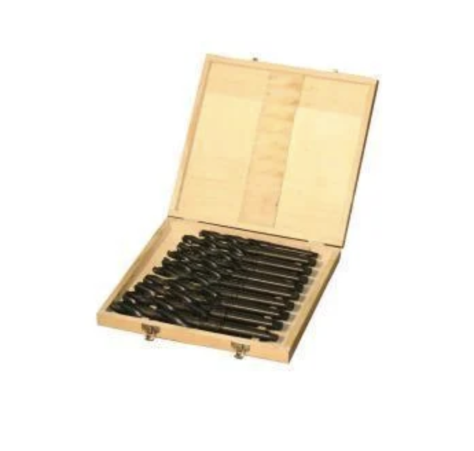 Комплект спиральных сверл 14,5-30 мм КМ2-КМ3/быстрорежущая сталь/9 шт. Holzmann SPSMK23