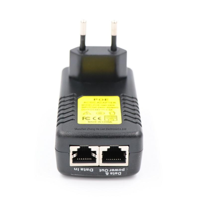 PoE адаптер инжектор питания камер RJ45 48В 0.5А (04577)