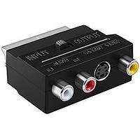 Переходник SCART - RCA + S-Video композитный с переключателем