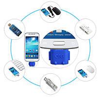 USB OTG адаптер переходник РОБОТ с MicroUSB на USB (00737)