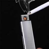 USB зажигалка электронная Спираль, алюминий (04994)