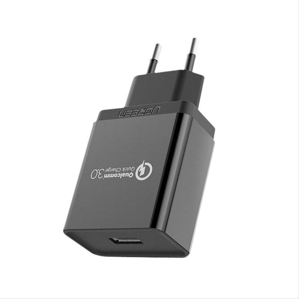 USB сетевое зарядное устройство QC3.0, 5/9/12В 18Вт Ugreen CD122