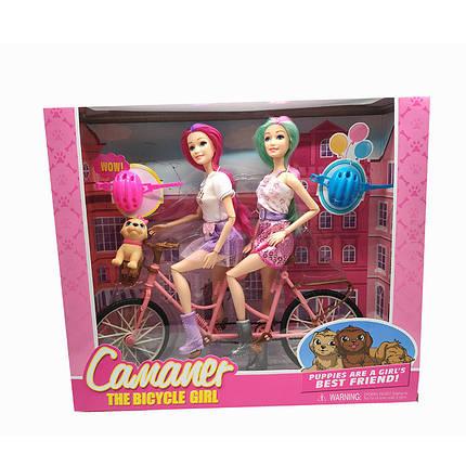 Кукла  шарнир, двойной велосипед, с аксесс, в кор.36*11*31cm /24-2/, фото 2