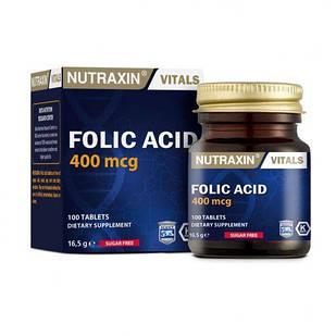 Дієтична добавка BIOTA Фолієва кислота NUTRAXIN 100 таблеток (4743003)