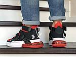 Чоловічі кросівки Nike Air Force 270 (чорно-червоні), фото 3