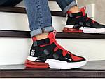 Чоловічі кросівки Nike Air Force 270 (чорно-червоні), фото 5