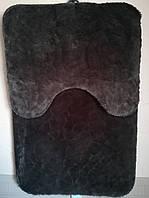 Коврик в ванную и туалет, набор 90*60 см, 50*60 см. 2 предмета черный шоколад