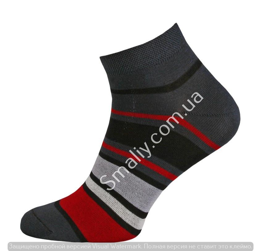 Мужские демисезонные плотные носки в полоску
