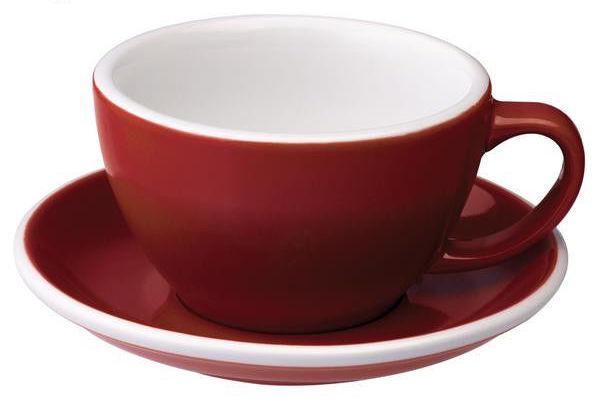Чашка и блюдце для латте Loveramics Egg Café Latte Cup & Saucer (Red) (300 мл)