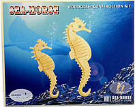 "3д модель ""Морской конек"" (2 пластины)"