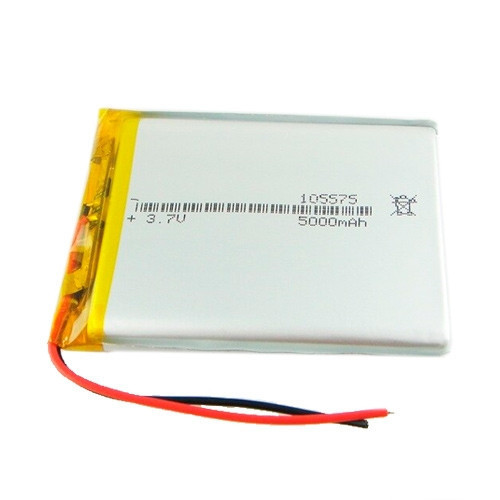 Li-pol аккумулятор 105575 3.7В 5000мАч 74 х 55 x 9.4 мм