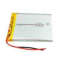 Аккумулятор 105575 Li-pol 74 х 55 x 9.4 мм 3.7В 5000мАч, (05411)