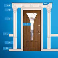 Гіпсові арки, арки гіпсові, гипсовая лепнина вокруг двери, гипсовая лепка над дверью, арки межкомнатные.