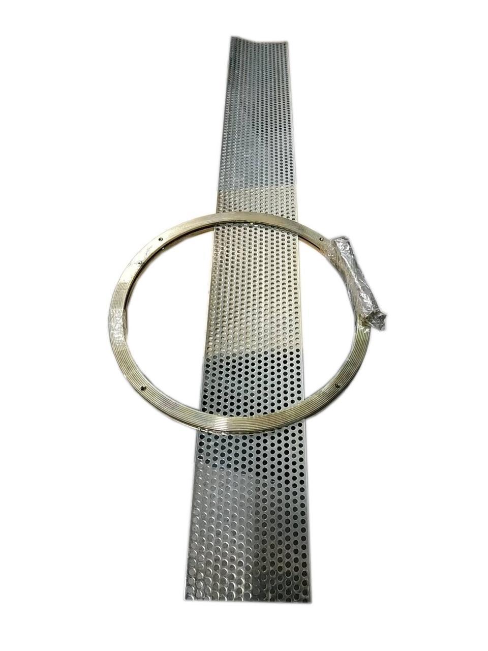Сито (Решето) кормоизмельчителя с кольцами в сборе 5,0 мм ДТЗ КР-23С(КР23С))