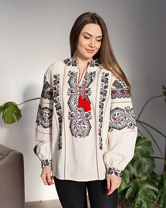 Жіноча вишита блуза Казка бежева, фото 2