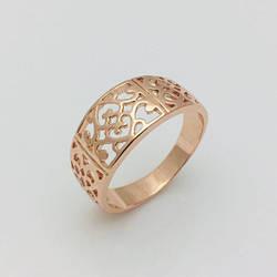 Кольцо Ажурное без камней, позолота 18К , размер   21, 22, 23, 24