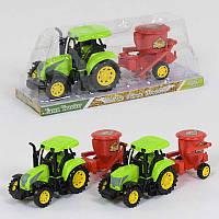 Игрушечный пластиковый трактор с прицепом 1602-1, 2 вида
