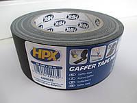 Армированная клейкая лента HPX Gaffer Tape 50ммх25м, черная матовая