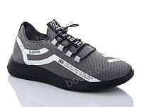 """Кроссовки демисезонные мужские """"DaFuYuan"""" #1F8909DA-5. р-р 40-45. Цвет серый. Оптом"""