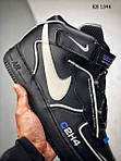 Мужские кроссовки C2H4 Nike Air Force 1 Mid (черные), фото 4