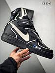 Мужские кроссовки C2H4 Nike Air Force 1 Mid (черные), фото 6