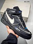 Мужские кроссовки C2H4 Nike Air Force 1 Mid (черные), фото 7