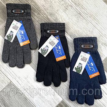 Перчатки мужские шерстяные одинарные с начёсом Tech Touch Корона, для смартфонов, ассорти, 8124