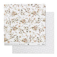 Бумага для скрапбукинга жемчужная «Нежные свадебные цветы», 30.5 × 32 см, 250 г/м