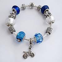 Женский браслет Pandora (Пандора) синий