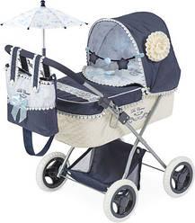 Коляска для куколDeCuevas 85020 с сумкой и зонтиком серии Романтик 60 сантиметровскладнаяс люлькой-качалкой