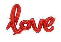 """Напис фольгована """"LOVE"""" . Довжина напису: 65см Червоний"""
