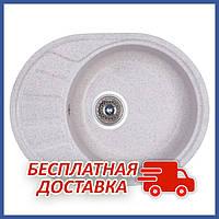 Овальная гранитная кухонная мойка Fosto5845kolor 210 (FOS5845SGA210) врезная, цвет - Серый