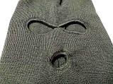 Маскировочная зимняя балаклава из вязанной пряжи., фото 2
