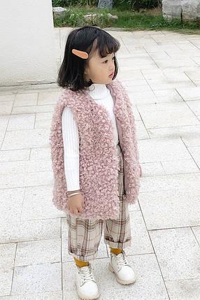 Меховая жилетка на девочку, фото 2
