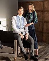 Лляні парні вишиванки сукня та сорочка, фото 2