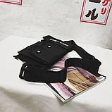 Бананка HGUL+BAG на четыре отделения черная, фото 8