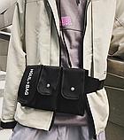 Бананка HGUL+BAG на четыре отделения черная, фото 9