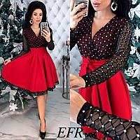 Нарядное женское платье с сеткой 6 расцветок