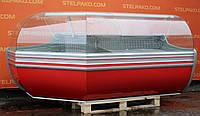 Холодильная угловая гастрономическая витрина «Cold W SGSP NZ» 2.4 м. (Польша), мраморная столешница, Б/у