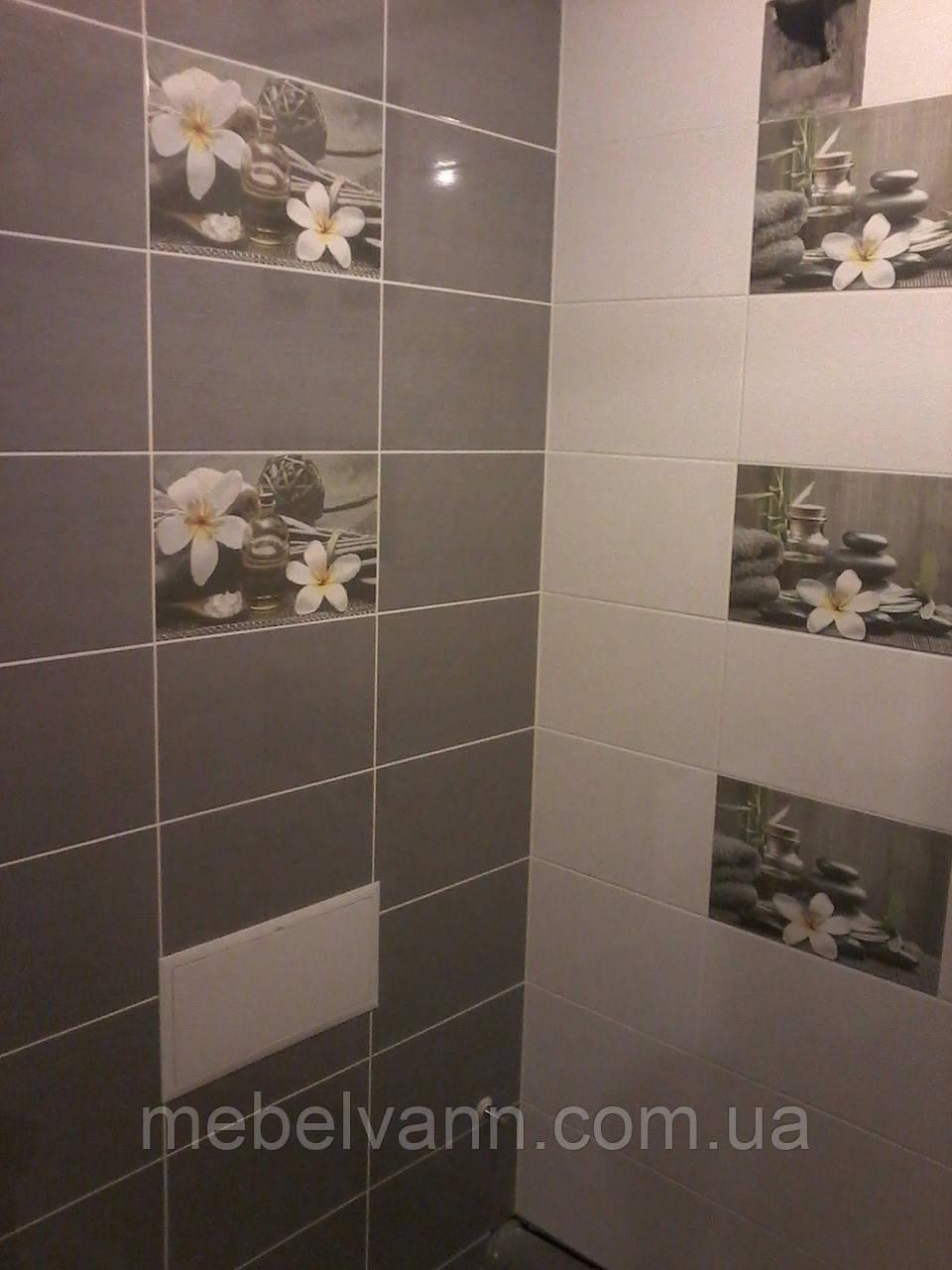 Плитка для ванной Olivia grey Cersanit Оливия 25*40 Церсанит