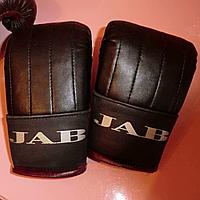 Перчатки для мальчиков снарядные для занятий боксом кожа ТМ JAB